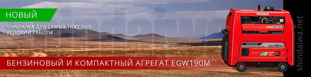 Агрегат бензиновий EGW190M Shindaiwa в Україні