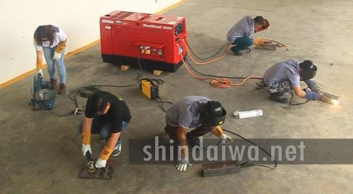Робота ремонтно-монтажної бригади з автономним апаратом Shindaiwa