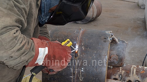 Зварювальні роботи на випробуваннях агрегату