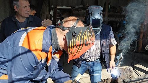 Испытания сварочного агрегата на производственном участке в Измаиле