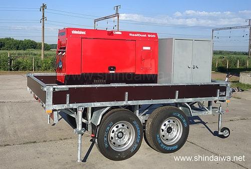 Двухосный колесный агрегат САК DGW500DM/RU-4S - вид сбоку