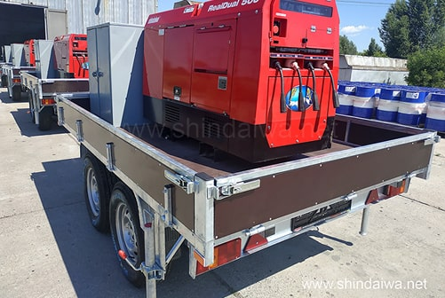 САК Shindaiwa укомплектованы дизельными агрегатами DGW500