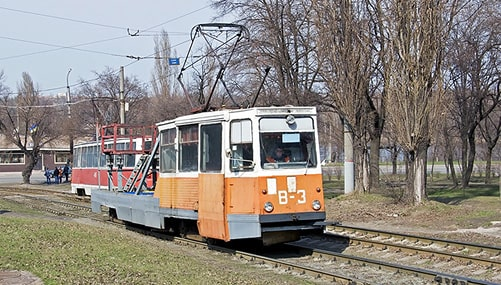Ремонтный трамвай Криворожэлектротранс