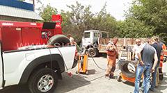 Підключення спеціального обладнання до електропостачання від агрегату Shindaiwa.