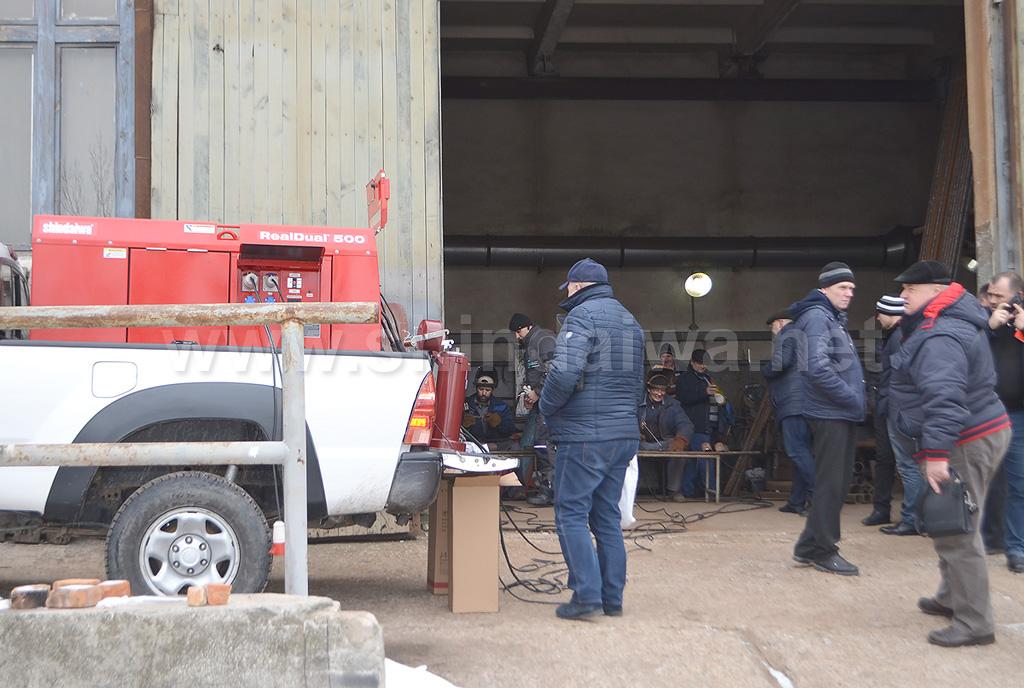 Демонстрация работы сварочного агрегата Shindaiwa на Одессатеплоэнерго