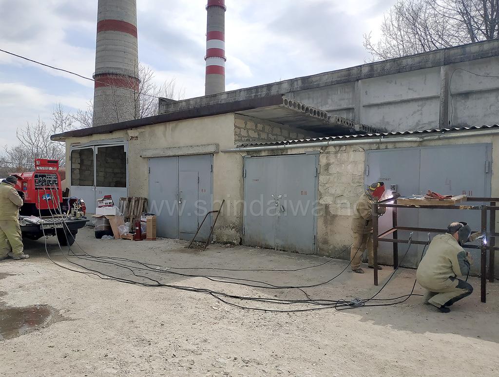 Фото зварювання двома постами на підприємстві Termoelectrica, Молдова