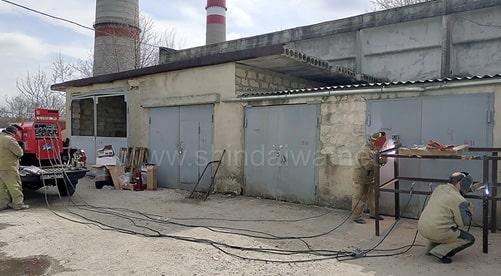 Фото сварки двумя постами на предприятии Termoelectrica,  Молдова