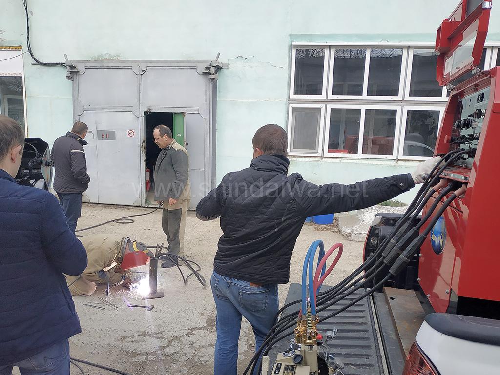 Опробование режимов сварки специалистами Termoelectrica.
