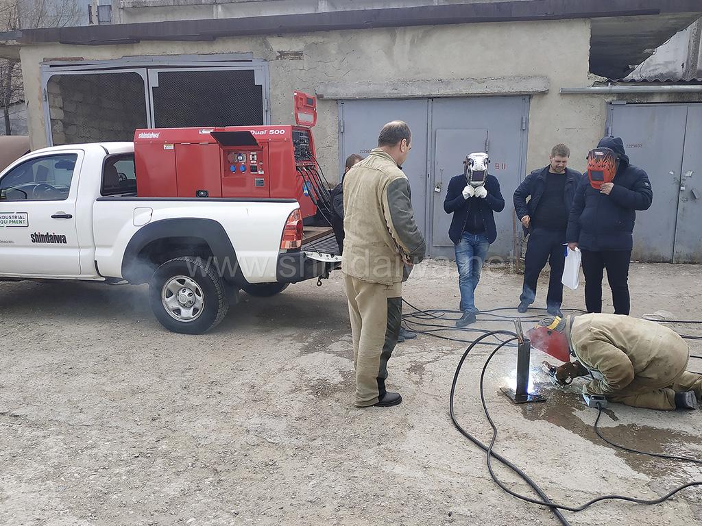 Фото с места испытаний дизельного аппарата Shindaiwa.