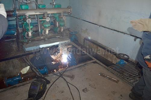 Процесс замены водоизмерительного узла на КП Черноморскводоканал