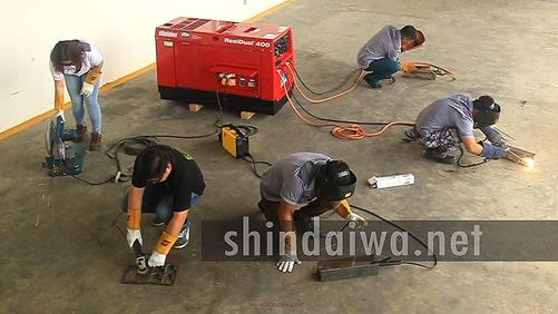 Подключение к дизельному агрегату нескольких инструментов