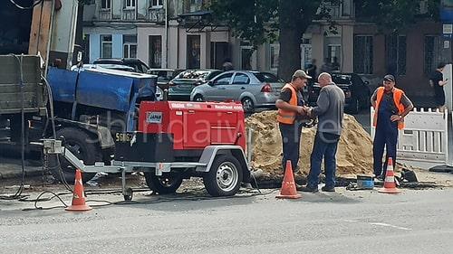 Авария на магистральной трубе водопровода на ул. Мясоедовской Одесса