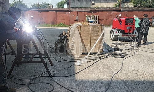 Сварочные агрегаты Shindaiwa на ККП Мариупольтеплосеть - фото 2