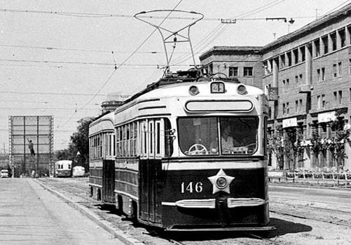 Трамвай в Запорожье в 40-е годы 20 века
