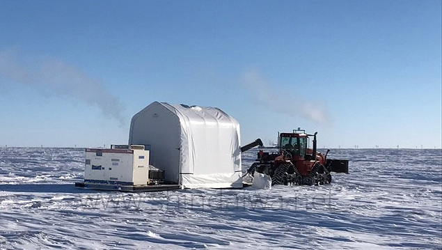 Дизель-генератор Shindaiwa у суворих зимових умовах