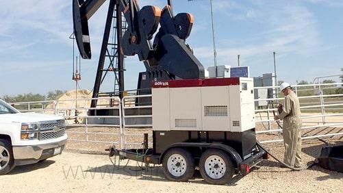 Дизель-генератор Shindaiwa біля нафтової качалки