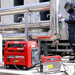 Бензиновый агрегат Shindaiwa EGW190M в работе