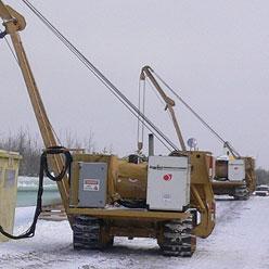 Дизель генераторы DG45MK-400 на прокладке газопровода в зимних условиях