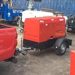 Пример сцепки САК DGW310-2S с мини грузовиком