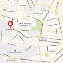 Офис представителя Shindaiwa на карте г. Одессы