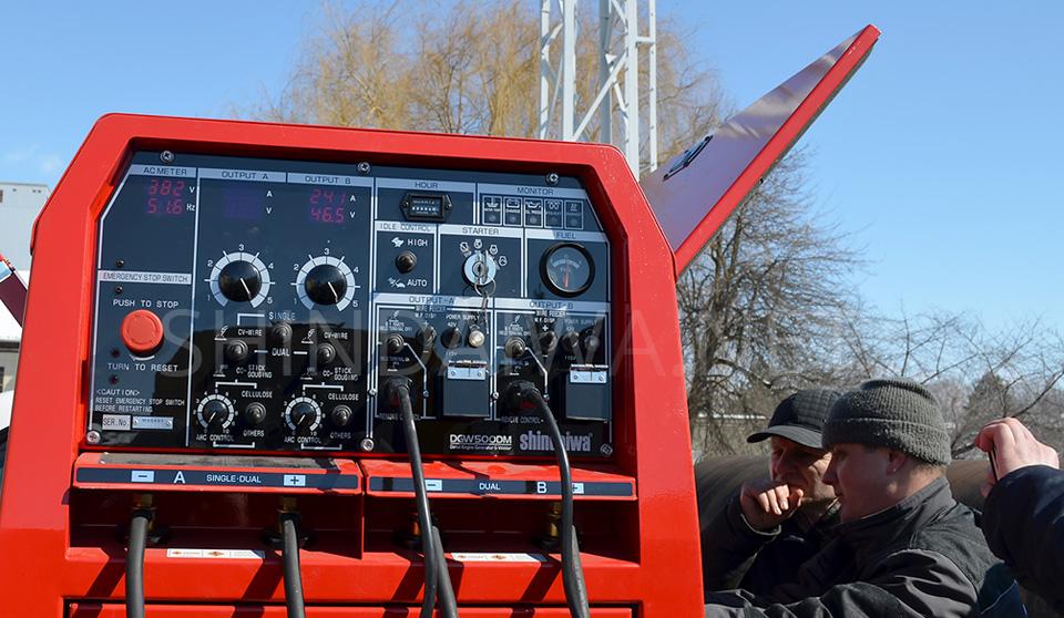 Осмотр — обслуживание сварочного аппарата Shindaiwa DGW500